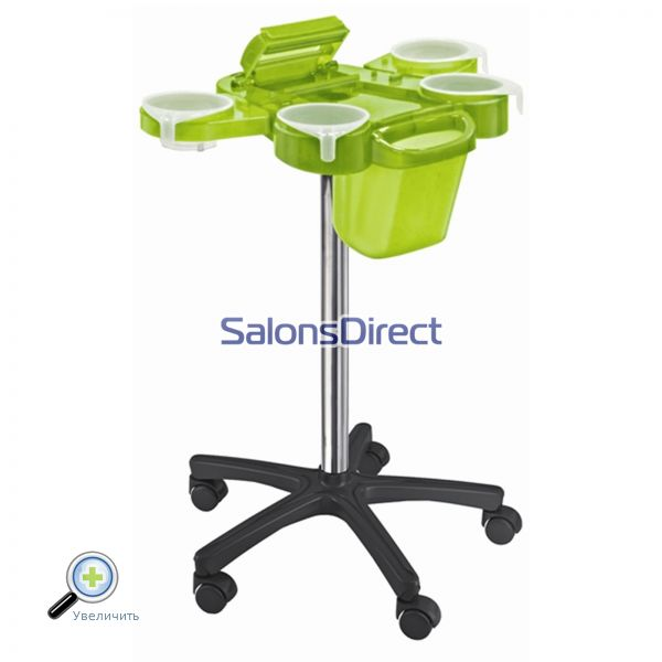 Тележка парикмахерская Ceriotti Service Plus Trolley Standart Wheels Green 7231