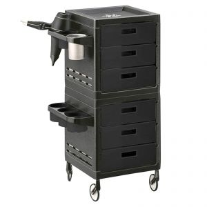 Ceriotti My Trolley Black 6 Boxes 7243